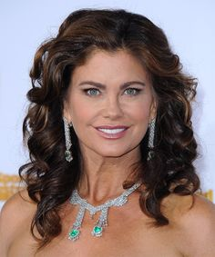 View yourself with this Kathy Ireland Long Curly Dark Brunette Hairstyle Kathy Ireland, Long Curly Hair, Curly Hair Styles, Dark Brunette Hair, Hot Rollers, Hair Density, Formal Hairstyles, Textured Hair, Face Shapes