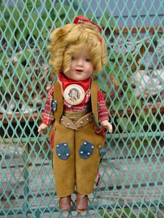 ORIGINAL COWGIRL TEXAS RANGER SHIRLEY TEMPLE IDEAL #11 COMPOSITION DOLL in Dolls & Bears | eBay