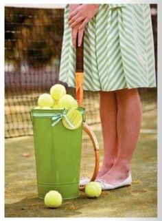green and yellow tennis party ideas