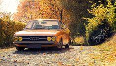 Fotografie Bongartz: MrsOrangina im Herbstgewand   Audi 100 Coupe S MrsOrangina