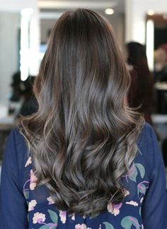 Little Ash Brown Hair Color Ideas for Long Hairstyles