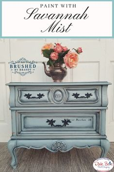 Chalk Paint Excited to share this item from my shop: Savannah Mist Paint - Light Blue Paint - Colorful Furniture, Blue Furniture, Dixie Belle Paint, Light Blue Paints, Blue Chalk Paint, Paint Furniture, Blue Painted Furniture, Painting Wooden Furniture, Painted Bedroom Furniture