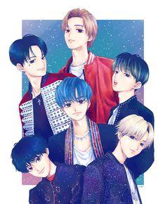 Nct Dream Jaemin, Cartoon Posters, Kpop Drawings, Na Jaemin, Handsome Anime, Kpop Fanart, Studio Ghibli, Nct 127, Chibi