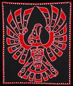 Kwakwaka'wakw Thunderbird Button Blanket Made by F - Oct 2007 Aboriginal Patterns, Aboriginal Art, Native American Crafts, Native American Fashion, Arte Haida, Canadian Quilts, Eagle Drawing, Native Canadian, Tlingit