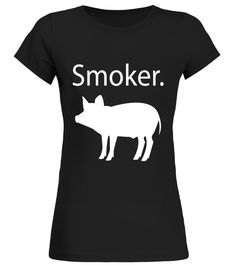 PIG SMOKER T-SHIRT Funny Grilling Shirt For Dad Fathers Day