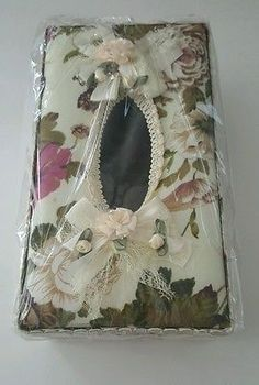 Elegant Tissue box cover fabric Home Style Multi-Color for Bathroom MPN 5884