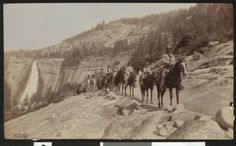 Horseback riders on a trail in Yosemite National Park, ca.1920 :: California Historical Society Collection, 1860-1960