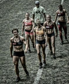 Crossfit games athletes looking fierce! Strong women who are fit and healthy for inspiration and motivation