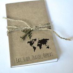 Travel notebook: Eat Sleep Travel Repeat  by AshleyCaitlinCrafts
