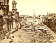 Piazza Navona (1860) :http://www.romaierioggi.it/piazza-navona-1860/