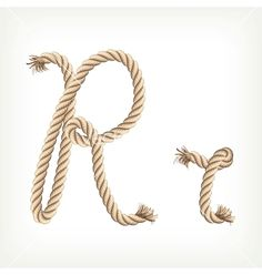 Rope alphabet Letter R on VectorStock