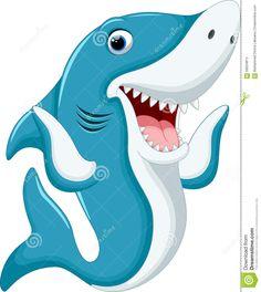 Illustration about Illustration of Cute shark cartoon. Illustration of notice, aquarium, friendly - 58034813 Cute Shark, Great White Shark, Baby Shark, Shark Images, Animals And Pets, Cute Animals, Shark Drawing, Shark Art, Kawaii Doodles