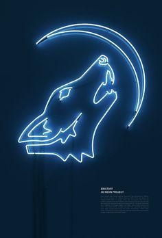 Beautiful Neon Typography by Rizon Parein | Abduzeedo Design Inspiration