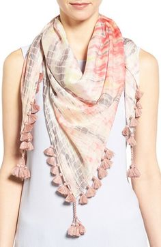 Eileen Fisher Modal & Silk Tassel Trim Scarf - Try Tassels, Our Favorite Summer Trend - Photos cafsew colours Diy Scarf, Pompom Scarf, Scarf Ideas, My Hairstyle, Scarf Hairstyles, Designer Scarves, Scarf Design, Summer Scarves, Indian Designer Wear