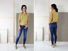 Liesl + Co Classic Shirt sewing pattern in Liberty of London lawn