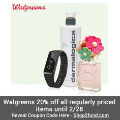 #Walgreens has 20% off regularly priced items until today, 2/28!  Reveal Coupon Code Here: http://www.shop2fund.com/coupon/20-off-sitewide-on-regular-priced-items/763569/
