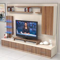 Riva tv Ünitesi Ünitechi home furniture Tv Unit Interior Design, Tv Unit Furniture Design, Tv Furniture, Tv Wall Design, Room Interior, Tv Cabinet Design Modern, Tv Cupboard Design, Tv Unit Decor, Tv Wall Decor