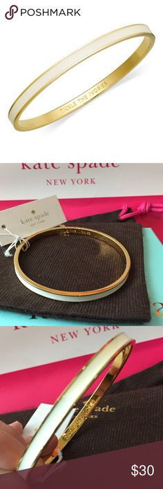 💕Kate Spade Idiom Bracelet Tickle the ivories kate Spade nwt perfect condition Bangle kate spade Jewelry Bracelets