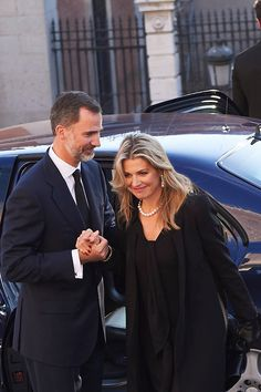King Felipe VI of Spain, Queen Letizia of Spain, King Willem-Alexander, Queen Maxima, Princess Beatrix, Princess Laurentien,King Simeon Borisov Sakskoburggotski and Margarita Gomez-Acebo, Miriam Ungria and Sons attend the Mass Fueneral for Kardam Prince of Turnovo at Los Jerenimos Church on June 8, 2015 in Madrid