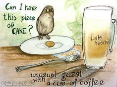 Jakiś czas temu miałam dosć nietypowego gościa przy kawie :)  https://www.facebook.com/AdituCreativeGallery ~~*~~*~~*~~*~~*~~* Some time ago i have a unusual guest a cup of coffee :D  https://www.facebook.com/AdituCreativeGallery