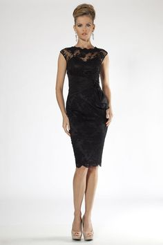 A-line V-neck Short/Mini Black Lace Bridesmaid Dresses(BD306 ...