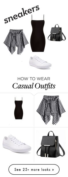 """""""casual w/ white sneakers"""" by kaitykat40 on Polyvore featuring Converse"""
