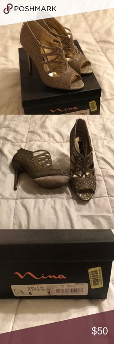 Nina gold party heels 👠 New in box! Never worn✨ Nina gold party heels 👠 New in box! Never worn. Size 6. 4 inch heel. Perfect for a NYE party! Nina Shoes Heels