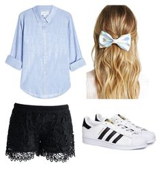 """""""Cute"""" by stefanie-ege on Polyvore featuring adidas, Forever 21, Velvet and Chicwish"""