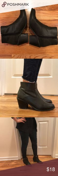 Ecote black ankle boots Comfortable ankle boots from Urban Outfitters in good condition. Has some wear as seen in the photos. Ecote Shoes Ankle Boots & Booties