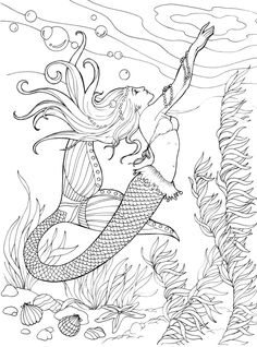 clik this pin for more mermaid coloring pages coloring pages for adultscoloring pagesadult coloring pagesmermaid coloring pages