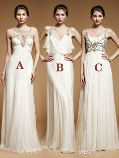 Wholesale Mismat Bridesmaid Dresses - Buy 2014 Jenny Packham Floor Length Sleeveless A Line Beads Chiffon Wedding Party Coral Mismatched Bridesmaid Dresses Custom Made, $115.45 | DHgate