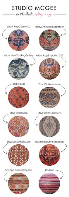 On the Hunt: Sourcing Antique Rugs Confession: I have an addiction to sourcing Persian and Turkish rugs online. They add warmth, character and sophistication to any room. I think all homes need to incorporate a few vintage or antique pieces and a rug is Studio Mcgee, Deco Ethnic Chic, Home Decoracion, Rug Studio, Small Rugs, Home And Deco, Rugs Online, Modern Retro, My New Room