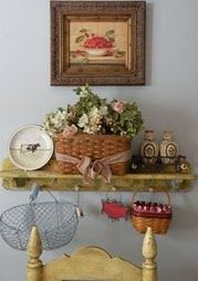 Adorable kitchen wall and shelf