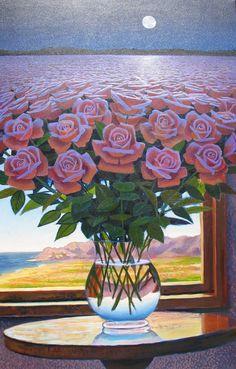 bluemoonroses  \\ Peruvian artist Ernesto Arrisueno