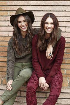 Left: Solstice Crop Knit (http://www.nastygal.com/promo-colors/solstice-crop-knit), Wild Olive Skinny Jeans (http://www.nastygal.com/promo-colors/wild-olive-skinny-jeans) & Brixton Nora Hat (http://www.nastygal.com/promo-colors/brixton-nora-hat)  Right: #NastyGal Malbec Crop Sweater (http://www.nastygal.com/promo-colors/nasty-gal-malbec-crop-sweater) & Gatsby Trouser Pant (http://www.nastygal.com/promo-colors/gatsby-trouser-pant)