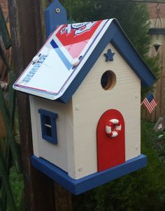 Coast Guard Bird House by WoodburyBirdHouses on Etsy, £24.00