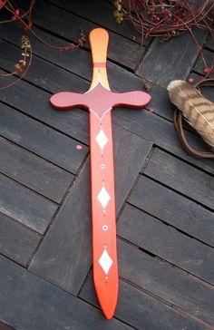 ✿ Ein Schwert im Ritterdesign ➤ ganz nach den Farbwünschen der Kinder bemalt - da wird jedes Kind zum stolzen Ritter !