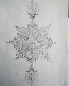 Islamic Art Pattern, Mandala Pattern, Mandala Design, Mandala Art, Pattern Art, Gothic Pattern, Stencil, Illumination Art, Persian Pattern