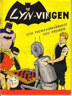 """Lynvingen"" (Norwegian Batman) No. Planet Comics, Superman, Batman, Comic Art, Comic Books, Magazines, Nostalgia, Singing, Journals"