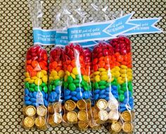 Pot of Gold or Rainbow Party favors. Rainbow Birthday Party, Rainbow Theme, Rainbow Baby, Unicorn Birthday, Birthday Diy, Birthday Ideas, Rainbow Party Decorations, Rainbow Party Favors, Rainbow Treats