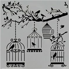 The Crafters Workshop Mini Birds of a Feather Stencil & Template   Shop Hobby Lobby