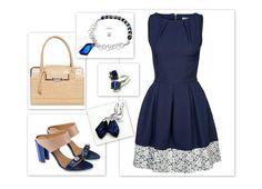 Czy wam też się tak bardzo podoba połączenie eleganckiej, granatowej sukienki z beżową torebką? Do tego sandałki z kryształkami! Ja się zakochałam :) Dla mnie idealna stylizacja na wesele lub na popołudniowy bankiet:) Zestaw:  Sukienka: Closet  Buty: Conhpol Woman  Biżuteria: Arande  Torebka: Orsay