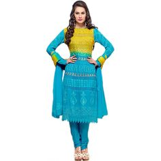 Beautiful Design In Sky Blue Embroidered Dress Material-DRS352-1691(SEM-9012-DRS352)