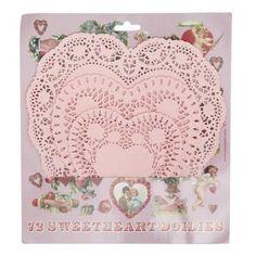 Heart paper doilies
