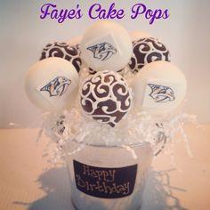 Nashville Predators Cake Pops Birthday Bouquet