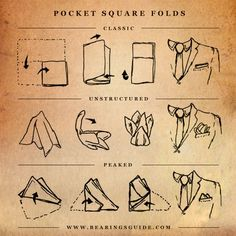 Different Ways To Fold That Pocket Square