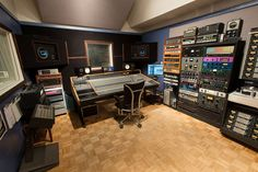 Zippah Recording Studios - control room. Owned by producer Brian Charles.