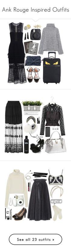 """Ank Rouge Inspired Outfits"" by natjulieta ❤ liked on Polyvore featuring Larme, ankrouge, larmekei, MariaKurotaki, self-portrait, Vika Gazinskaya, Fendi, Steidl, Fuji and ootd"