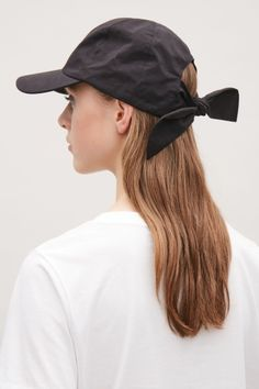 COS Soft cap with back tie in Black