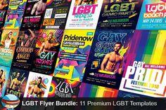11 LGBT Flyer Templates Bundle by FlyerHeroes on @creativemarket